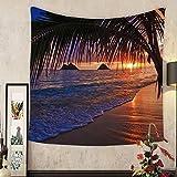 Lee S. Jones Custom tapestry pacific sunrise at lanikai beach hawaii