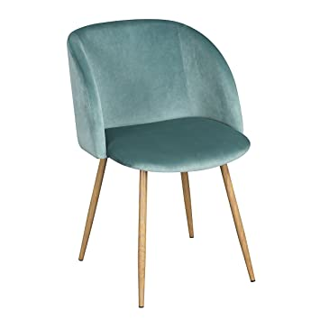 Amazon.com: Modern Velvet Accent Living Room Chair,Upholstered ...