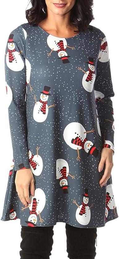 Vestido De Navidad Largo Manga Larga Mujer Invierno Fiesta Tallas Grandes Baratas Paolian Vestido De Camiseta Elegantes Casual Redondo Otono Traje De Navidad Papa Noel Ropa Rebajas Mujer Amazon Es Ropa Y Accesorios