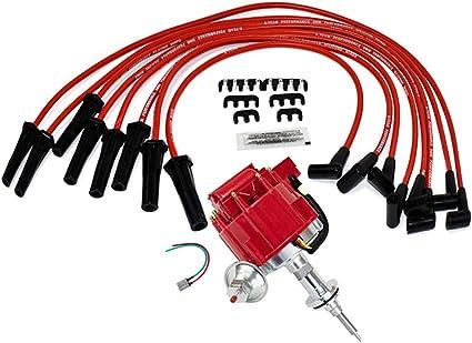 MOPAR 273-318-340-360 BLACK SMALL Cap HEI Distributor COIL /& Spark Plug Wires