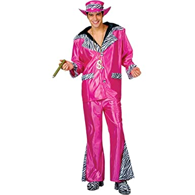 Big Daddy Pimp Costume Pink Mens Fancy Dress Small  sc 1 st  Amazon UK : pimp daddy costume mens  - Germanpascual.Com