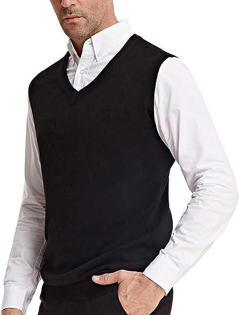 PAUL JONES Mens Knitting Vest Stylish /& Slim Fit Pullover Sleeveless