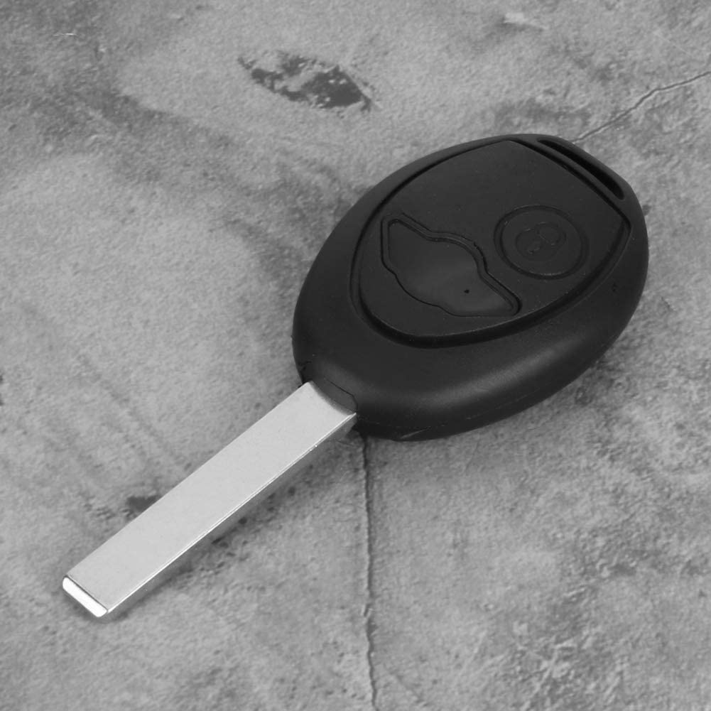 Senyar Key Shell Cover,2 Buttons Black Car Remote Key Fob Case Cover Shell Fit for One S R50
