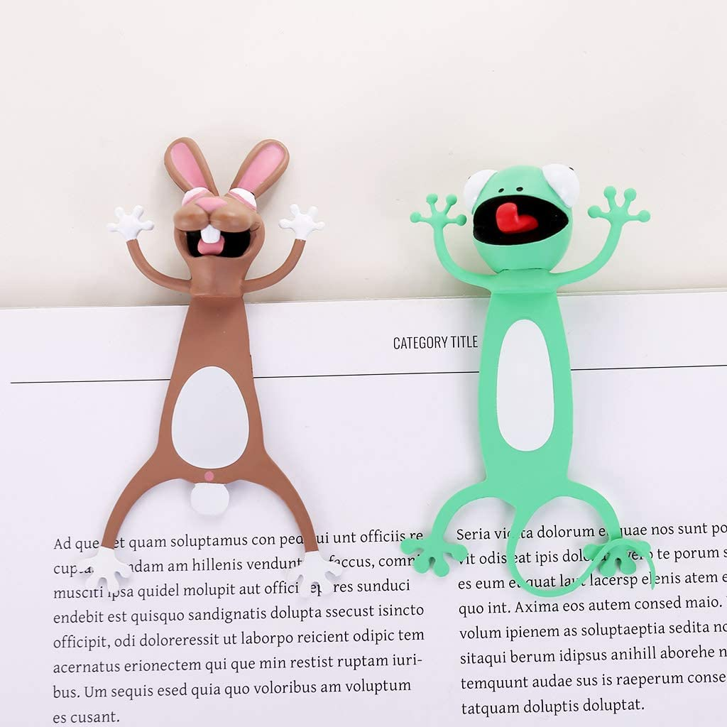 Funny Student Kids Gift Lovely Cartoon Animal Stereo Bookmarks Losping 3D Bookmark