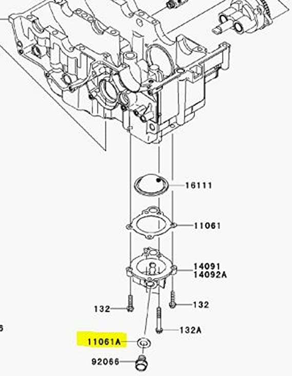 Amazon Com Kawasaki Oem Replacement Oil Drain Crush Washer 11061