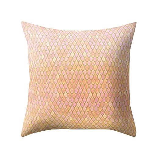 LEEDY - Funda de cojín para sofá de salón o Dormitorio con Cremallera Invisible, 45,7 x 45,7 cm, Tela Super Suave, G, Medium