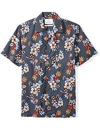 Men's Standard-Fit 100% Cotton Tropical Hawaiian Shirt