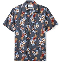 28 Palms Men's Standard-Fit 100% Cotton Tropical Hawaiian Shirt
