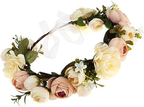 flower Headband Picture day Headband Photo Prop Flower Girl Headband Hard Headband White flowers Headbands Birthday Head