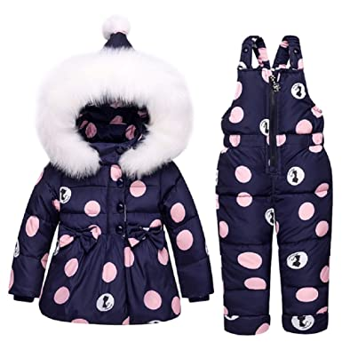 3df31d9a1 XIRUI Newest Children Girls Clothing Sets Winter Hooded Duck Down ...