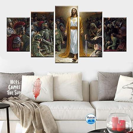Hqatpr Ensemble De 5 Pièces De Peinture Sur Toile Imprimée