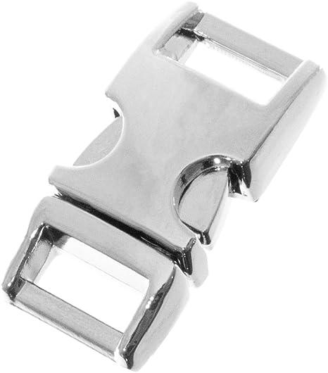 15MM Metal Paracord Buckles Buckle Bracelet Click Closure Silver Black