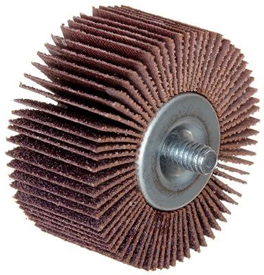 "Merit High Performance Quick-Change Mini Grind-O-Flex Abrasive Flap Wheel, Threaded Shank, Ceramic Aluminum Oxide, 1"" Dia., 1"" Face Width, Grit 60, 30000 Max RPM (Pack of 10)"