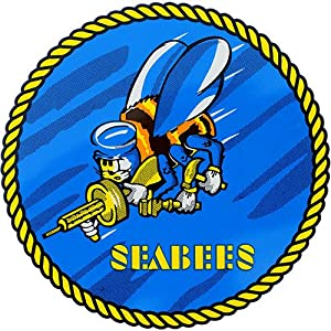 Seabees Round Clear Decal