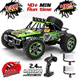 RC Car, 1:10 Scale 4WD High Speed 46+km/h Off Road Monster RC Truck, MiraTekk 2.4Ghz Remote Control Car All Terrain Waterproof Toy Truck for Kids and Adults, 2 Rechargeable Batteries for Run 40+ Min