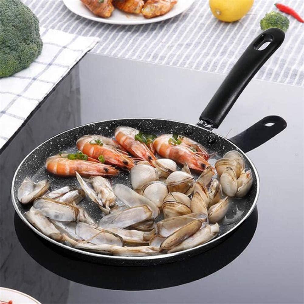 POÊLON antiadhésive en aluminium Poêle à long manche Barbecue vaisselle Poêle en acier inoxydable, 8 pouces ZHW345 (Color : 6 Inch) 6 Inch