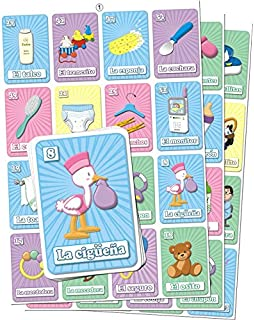 Amazon.com : Mexican Baby Shower Loteria Bingo In Spanish ...