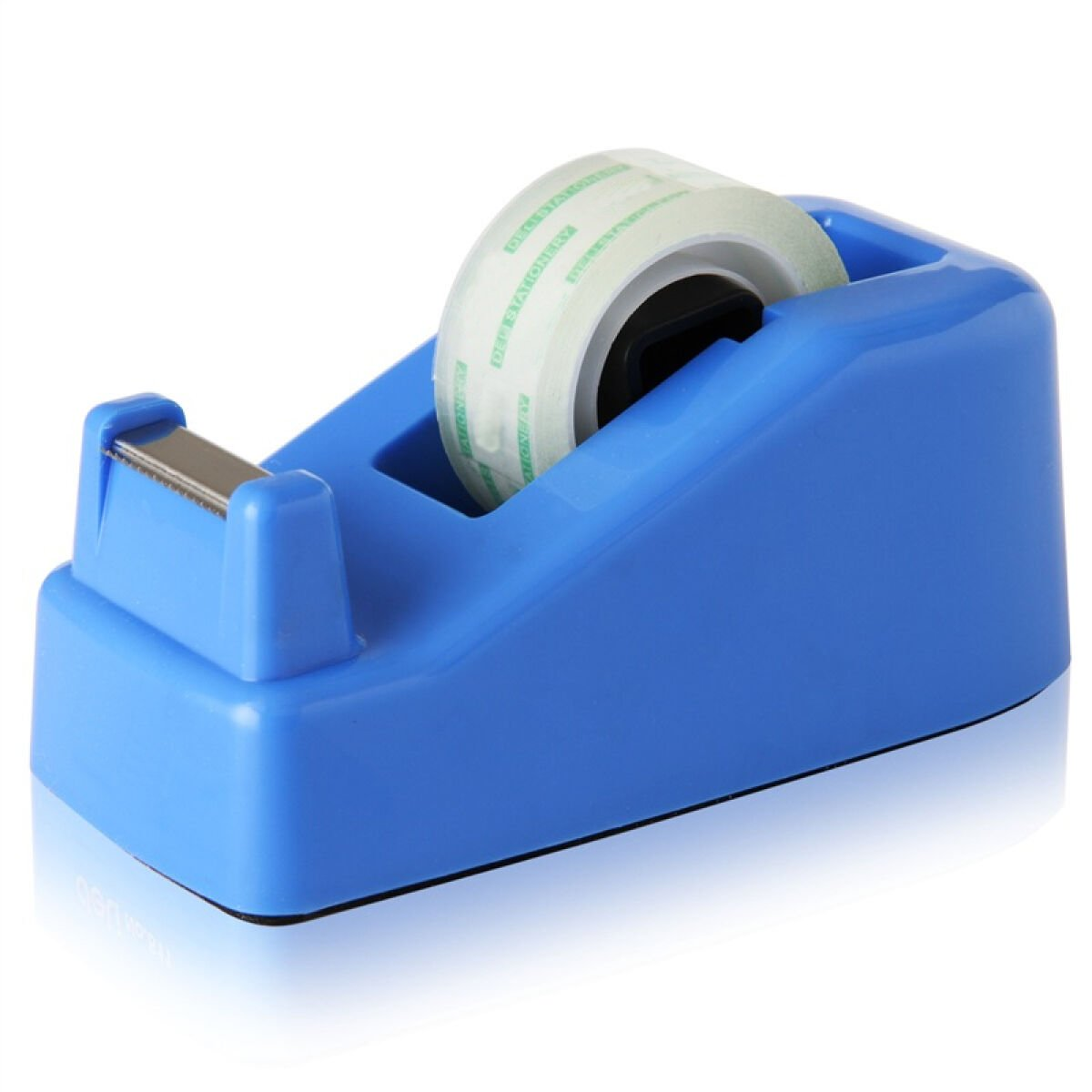 SAYEEC Heavy Duty Tape Dispenser Desk Weighted Non-slip Capacity 18mm Width - With 1 Roll of Tape Supplied - Small/Blue