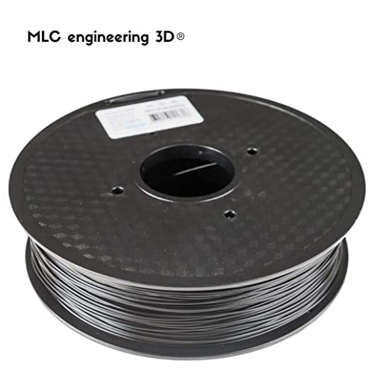 Filamento PLA negro, 1,75 mm, 1 kg en Bobina, para impresora 3D ...