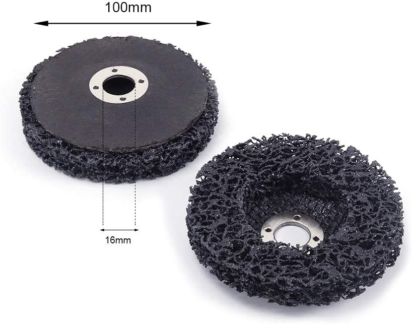 """Poly Strip Disc Grinding Wheel 1//4/"""" Shank for Metal Paint Rust Removal 2/"""" ~ 3/"""""""