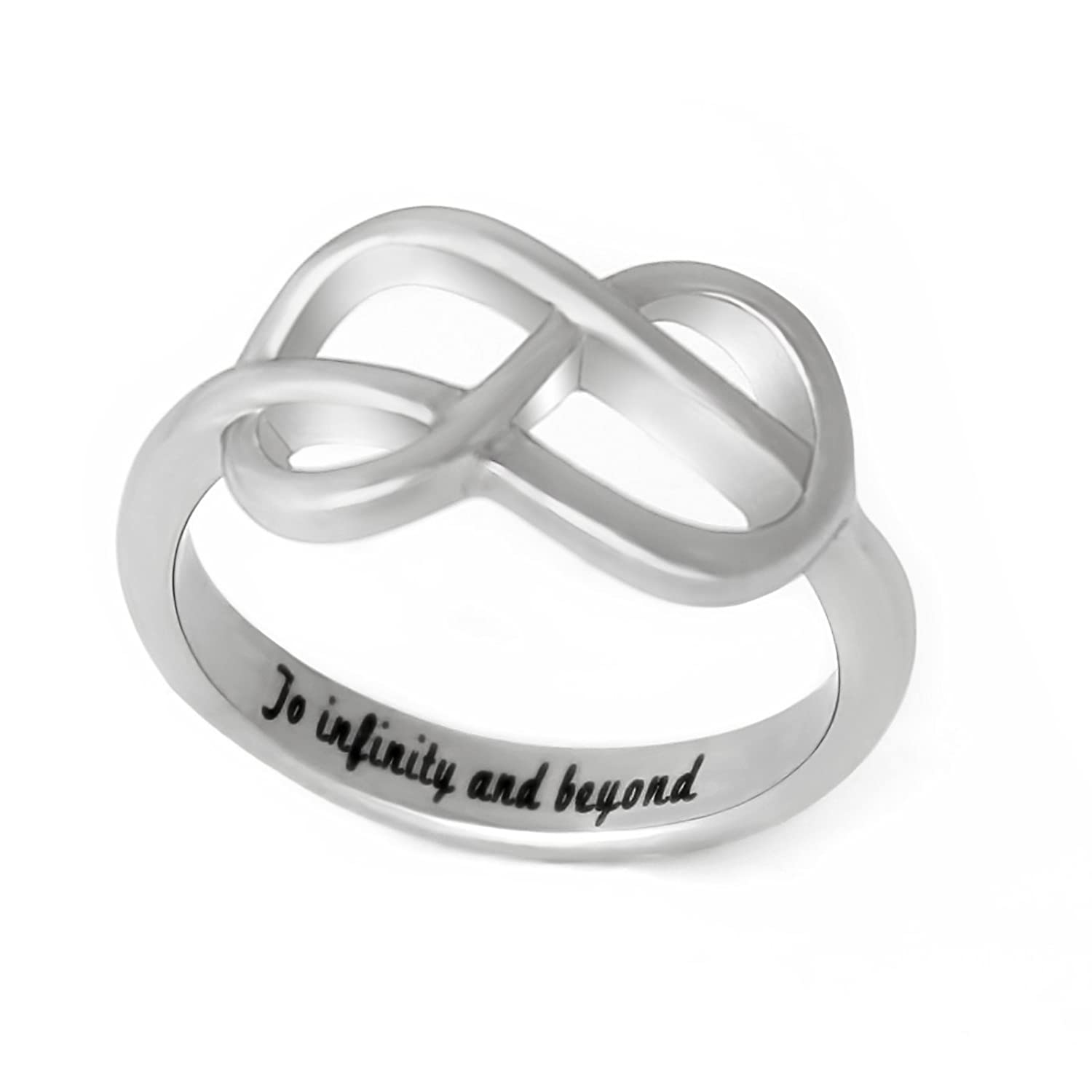 infinity promise ring. amazon.com: celtic promise ring to infinity and beyond, love with knot sizes 6-9 couples jewelry: jewelry y