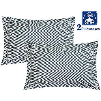 Amazon Com Brandream Grey Striped Pillow Shams Set Of 2