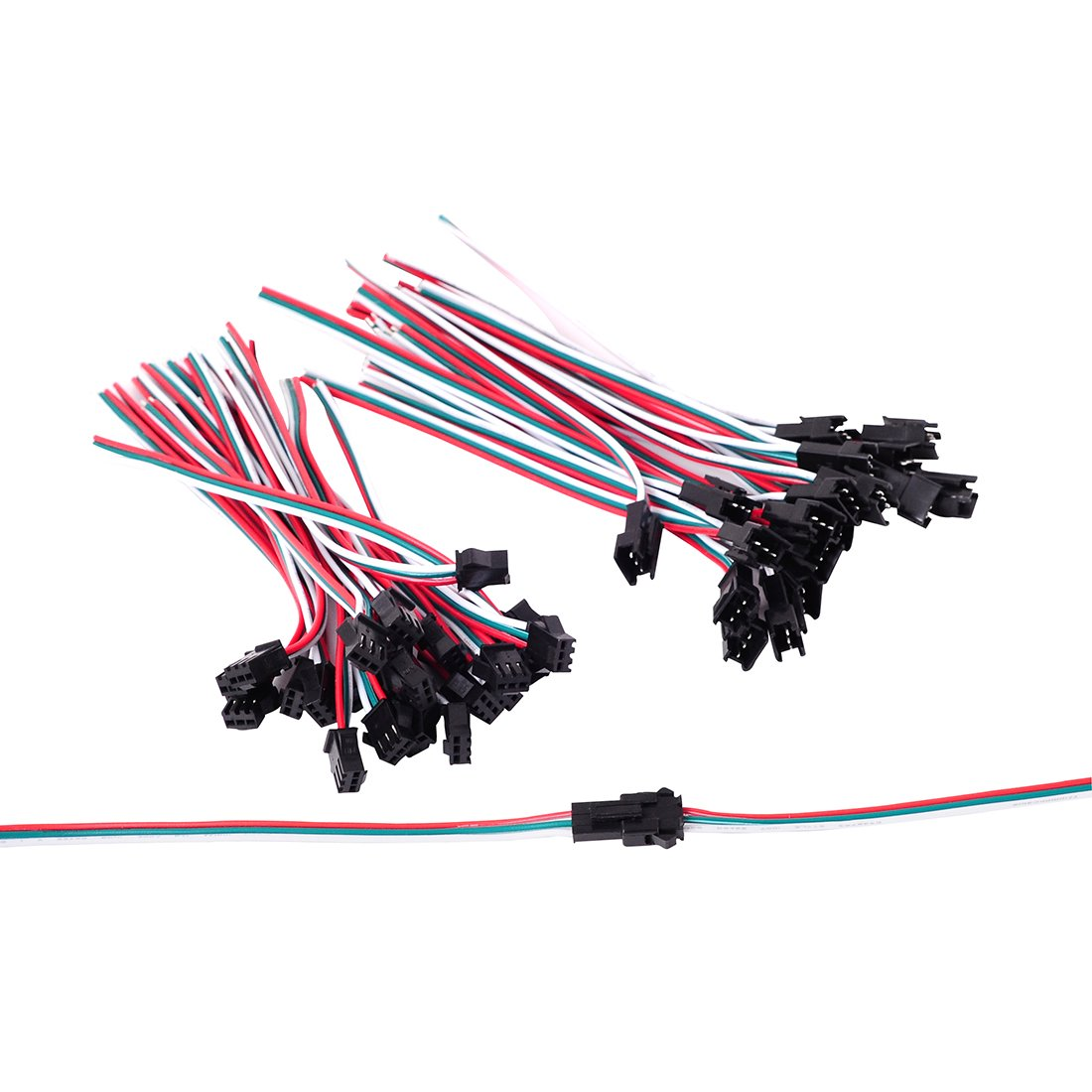Btf Lighting 20 Pairs Jst Sm 3 Pin Connectors For Wiring Money Precautions Ws2812b Ws2811 Ws2812 Sk6812 Led Strip Female Male 15cm 20awg Wire Garden Outdoor