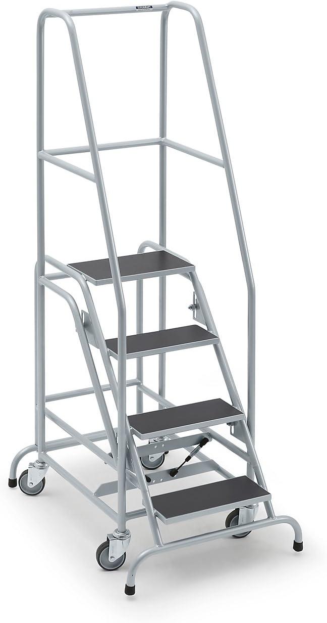 Mobile Escalera, con 4 niveles, goma – Nivel estriado Escaleras mobile Plataforma Escaleras llevado ayudas Nivel Escaleras mobile Plataforma Escaleras llevado ayudas Nivel Escaleras mobile Plataforma Escaleras llevado ayudas: Amazon.es: Oficina y