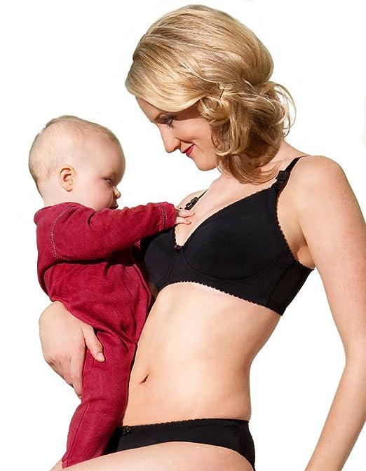 81083594ff Lorna Drew Amy Black Plunge Nursing Bra LD007 30B at Amazon Women s  Clothing store  Nursing Bras