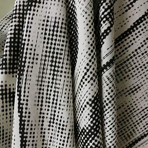 Pukido Geometric Natural Italy Silk Cotton Knit Fabric Jersey 1y 1.35m - Jersey Silk Fabric Knit