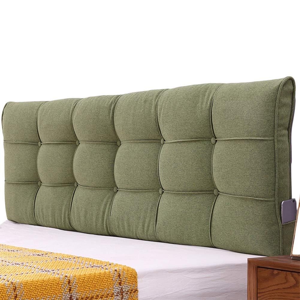 ホームベッド背もたれクッションベッドルーム二人乗りエクストララージ快適ウォッシャブル、3色、21サイズ Green, : さいず クッションベッドの背もたれ (色 Green 200x58x10cm) B07L2D1TR2 200x58x10cm サイズ : LIANGLIANG
