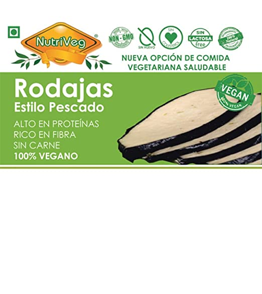 NUTRIVEG RODAJAS DE PESCADO (VEGANO) 300g (Pack de 1)
