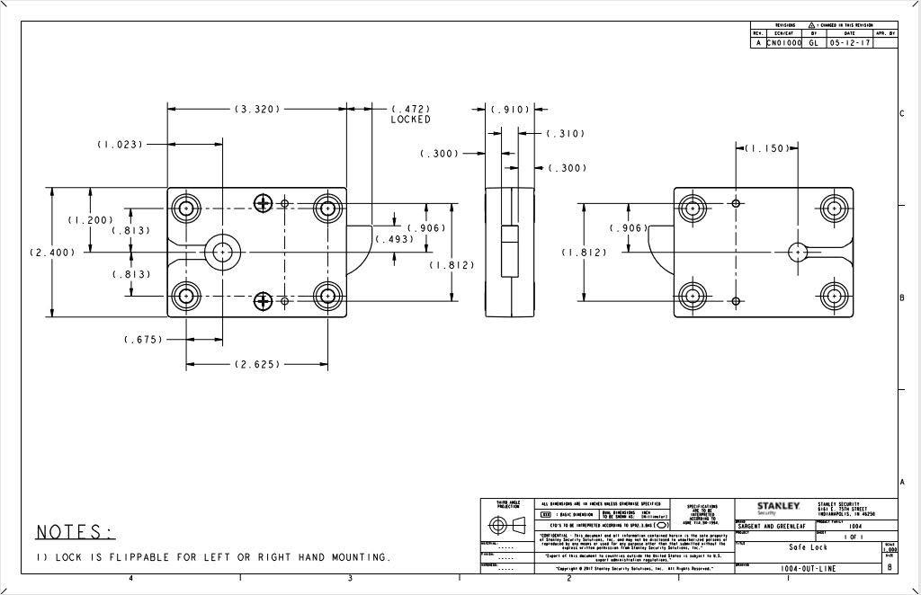 Sargent & Greenleaf S&G Model 1004-102 Spinblocker Bolt Electronic Safe Lock by Sargent & Greenleaf (Image #5)