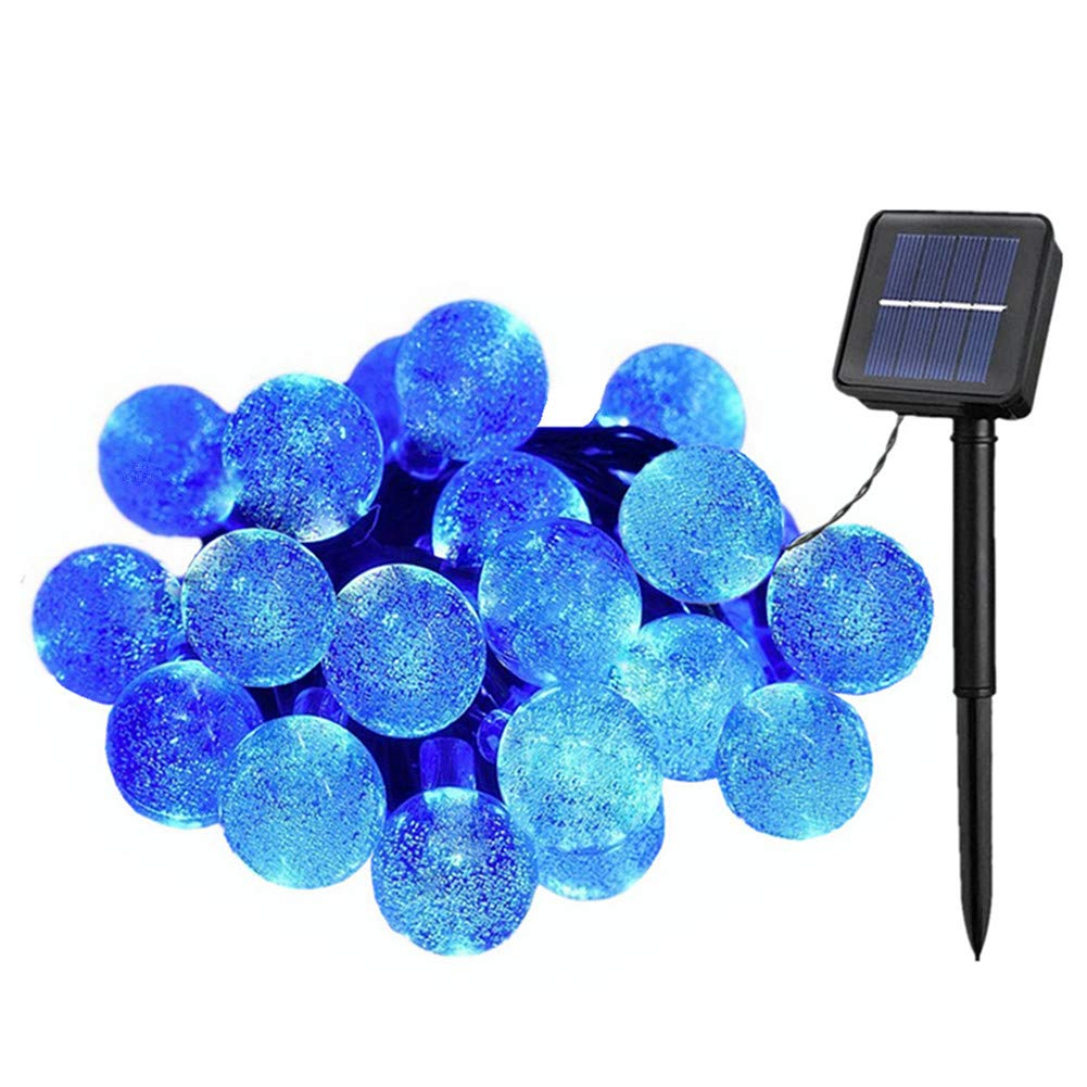 Outdoor Solar Garden Lights 50 LEDs Fairy Lights Flower String Lights Solar Powered Home Festival Party Decor Lights 7M/23ft Waterproof Ambiance Lighting for Halloween,Christmas,Wedding,Terrace,Yard (Bright White) Flexble