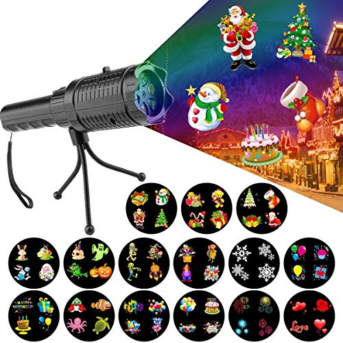 Millennium Gift (Hohoto Led Projector Light, Holiday Light Projector, Battery Operated Portable Projector Light with 15 Pattern Slides and Tripod for Party Holiday Decoration Xmas Gift)