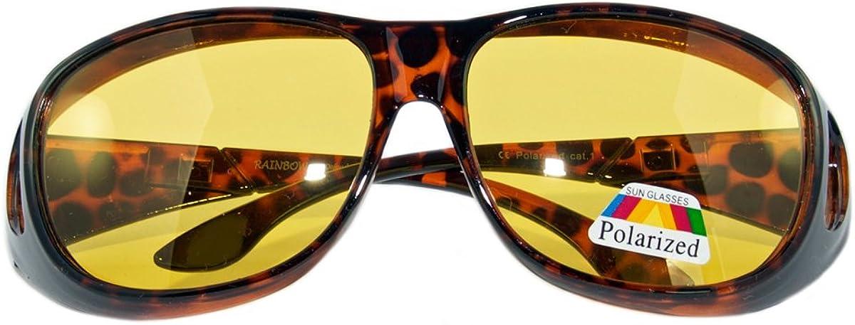 Rainbow safety EyeDefend RWN10 Overglasses Sunglasses Polarized Fits Over Regular Glasses for Sport Fishing Night Driving