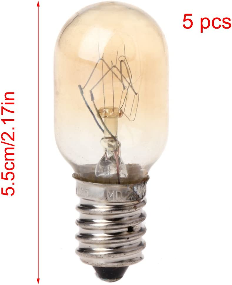 P-RULER 5Pcs Microwave Oven Part Light Bulb 230V 20W Glass Lamp Screw Mount Front