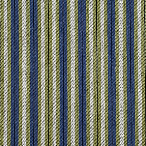 E823 Light Green and Blue Striped Jacquard Upholstery Fabric By The Yard