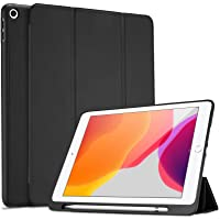 ProCase iPad 10.2 8th Gen 2020 / 7th Generation 2019 with Pencil Holder, Flexible Soft TPU Back Cover Ultra Slim…
