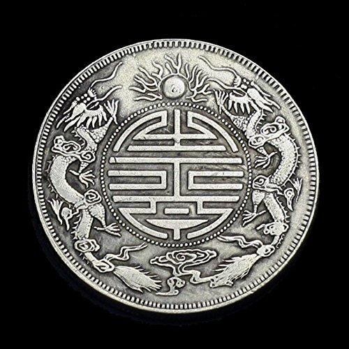 [해외]풍수 2 마리의 황제 룡의 고전 드래곤 코인 용 동전 드래곤은 쌍용 돈 / Feng Shui 2 Emperor Ryu no Kosen Ryu coin dragon Coins Dragon Silver Ssangyong Sen