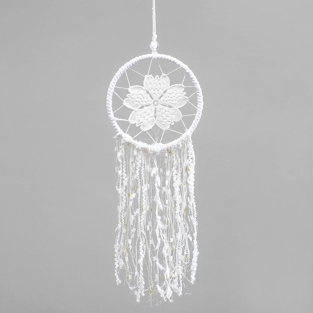 Gsha Handmade Dream Catcher with Feathers, India Dream Catcher Home Bedroom Decor, Car, Wall Hanging Ornament