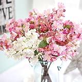 Besde ArtificialFake Flowers Leaf Cherry Blossoms Flowers Garden Bouquet Wedding Party Gift Home Decoration (hot)