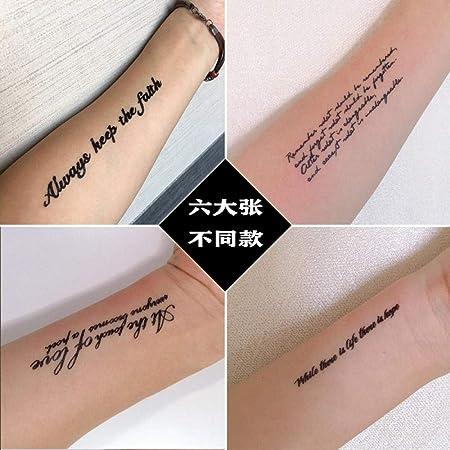 Amy tatuaje pegatinas impermeables hombres y mujeres simulación ...