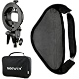 Neewer Photo Studio Multifunctional 24x24 inches/60x60 centimeters Softbox with S-type Speedlite Flash Bracket Mount and Carrying Case for Portrait or Product Photography