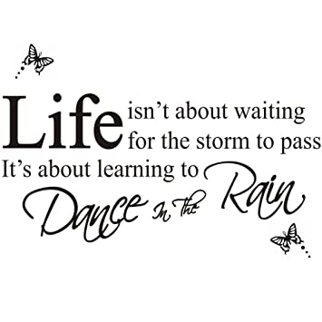 Amazoncom Dancing In The Rain Wall Stickers Wall Decor Wall Decals