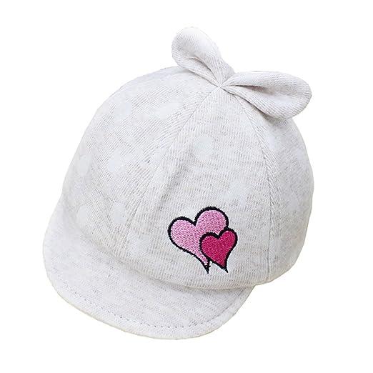 613e8b46a Amazon.com: Wcysin Baby Cotton Cap Sunhat Baseball Cap for Babies 0 ...