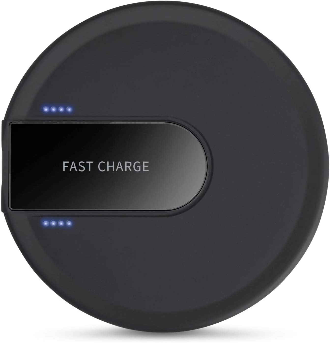 10W Compatible for Samsung Galaxy S9 //S8 //S7 Wireless Charger Hunletai Wireless Charging Pad Compatible with iPhone Xs//XS Max//XR//X // 8//8 Plus Black