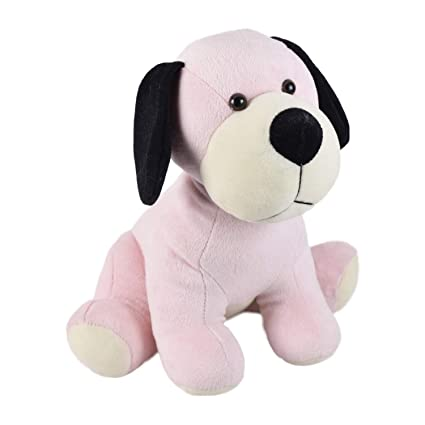 Ultra Cute Sitting Dog Soft Toy 12 Inches Baby Pink