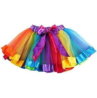 Sannysis Falda de Arco Iris Niñas bebés Vestidos fotografía Costume Outfits
