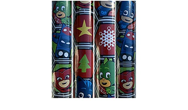 Amazon.com: PJ Mask Christmas Gift Wrapping Paper with Catboy,Owlet and Gekko 45 sq ft 1 Roll: Health & Personal Care
